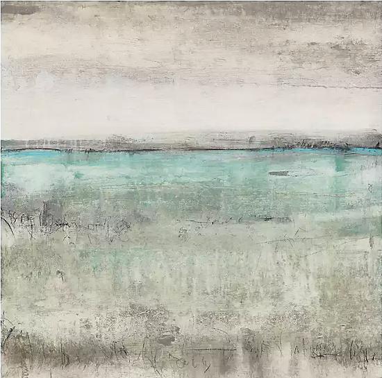 Aqua Horizon Giclee Canvas Art Print