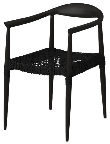 Bandelier Black Rural Woven Dining Arm Chair