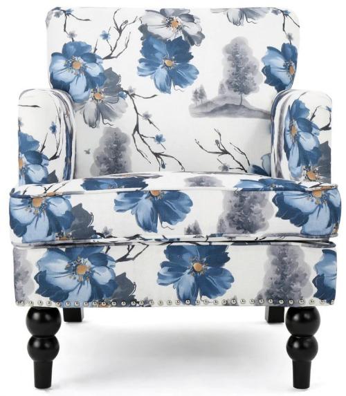 Boaz Floral Fabric Club Chair