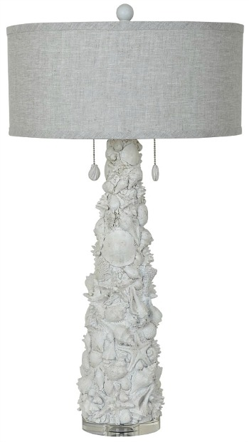 Caicos White Shell Table Lamp