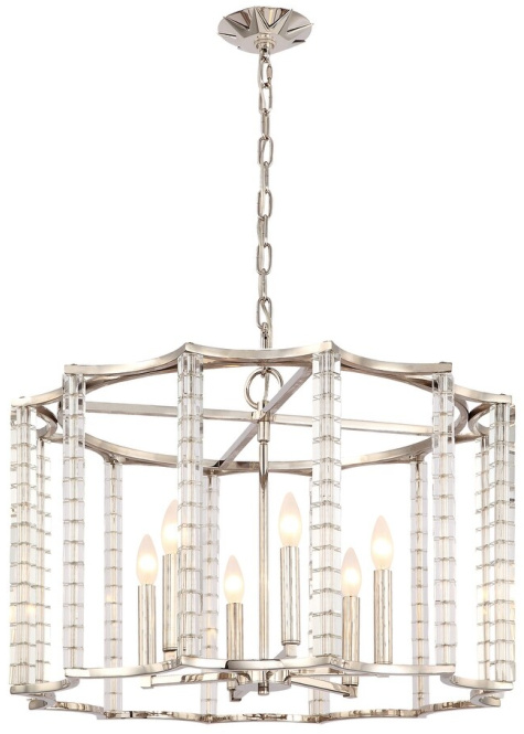 Carson 6 Light Polished Nickel Chandelier