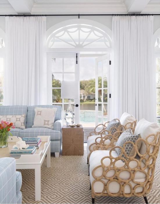 coastal chic home remodel living room