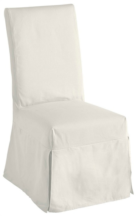 Dana Ivory Chair Slipcover