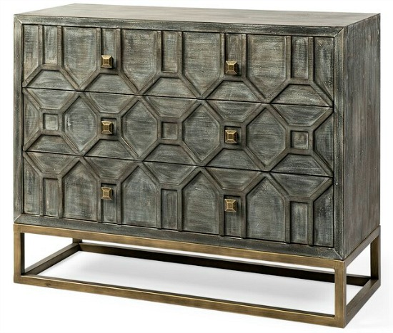 Degroot 3 Drawer Accent Cabinet