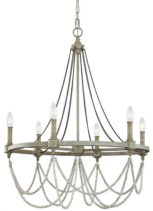 Fitzgibbon+6-Light+Candle+Style+Wagon+Wheel+Chandelier