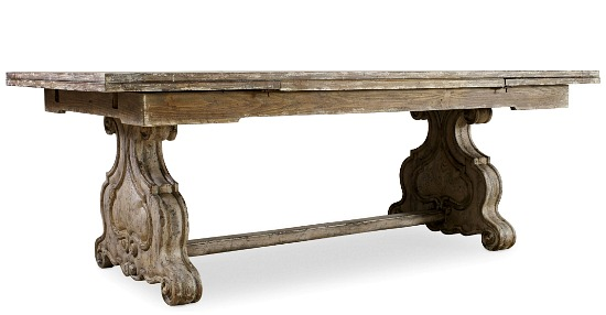 Hooker Furniture Dining Room Chatelet Refectory Rectangle Trestle Dining Table