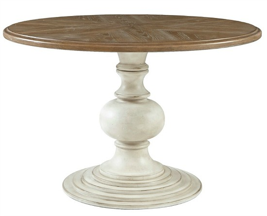 Madison Park Hemlock Reclaimed Walnut Antique Cream Dining Table