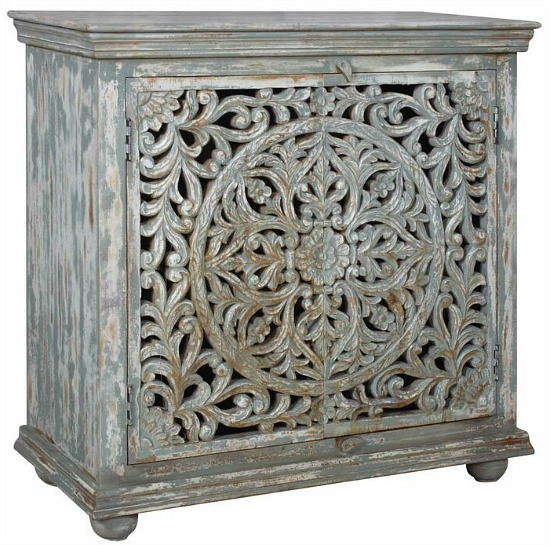Malakoff 2 Door Square Accent Cabinet