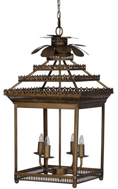 Marek 4 - Light Lantern Geometric Chandelier