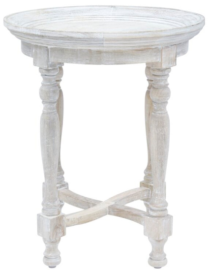 Nyasia Solid Wood Tray Top End Table