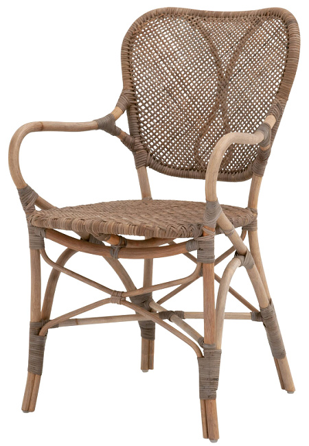 Quinlan Arm Chair in Brown