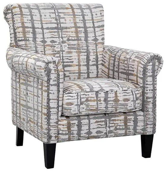 Roseanne Accent Chair - Gold/Grey