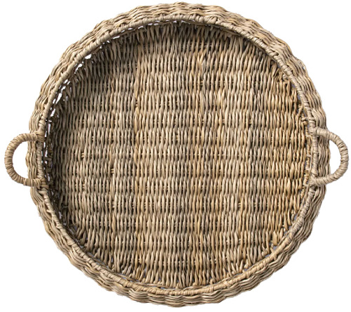 Round Manmade Outdoor Wicker Tray - Threshold™ designed with Studio McGee