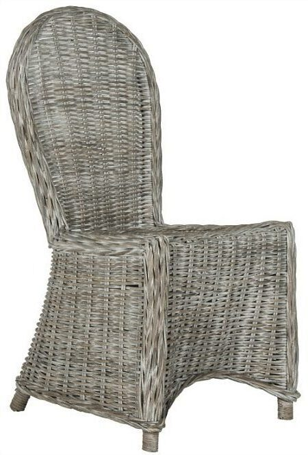 Safavieh Idola White Washed Dining Chairs (Set of 2)