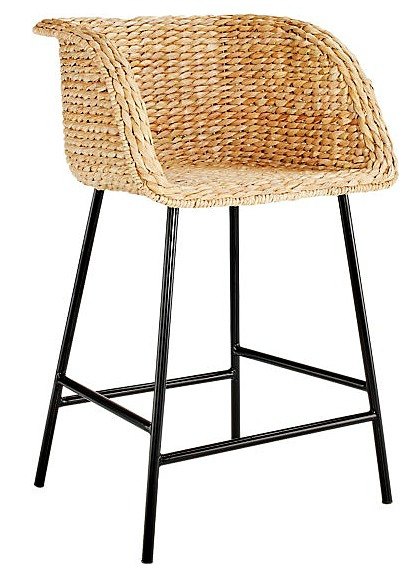 Silas Seagrass Bar Stool