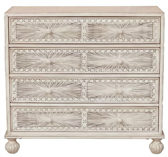Stevens Traditional Hand Painted 4 Drawer Accent Chest