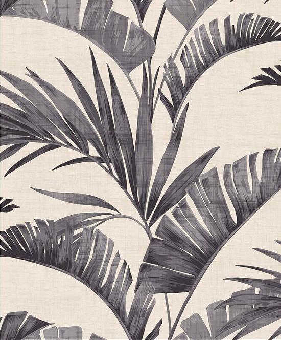 """Sutton Banana Palm Chalk 33' L x 20.5"""" W Wallpaper Roll"""