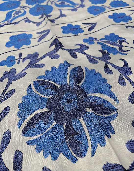 Uzbek Suzani handmade embroidered Bedspread Bedcover