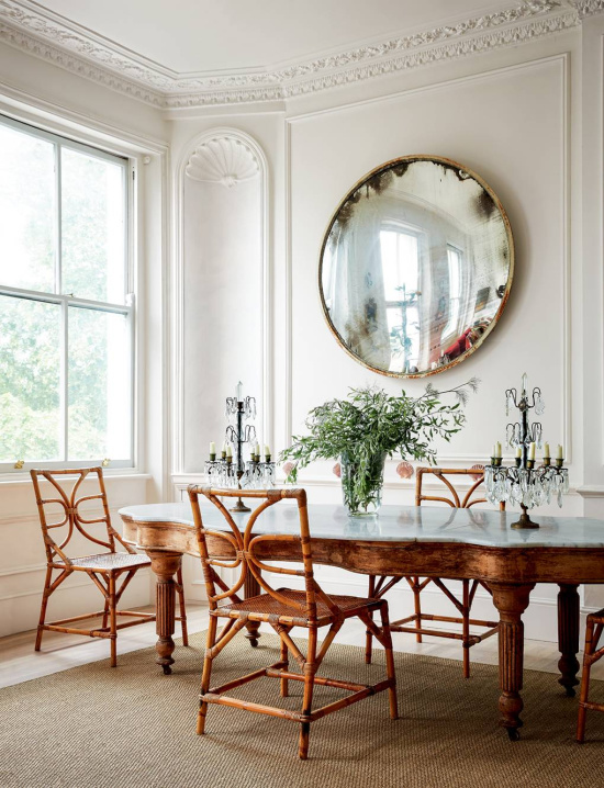 bamboo-dining-chairs-antique-table-HG-Paul-Massey