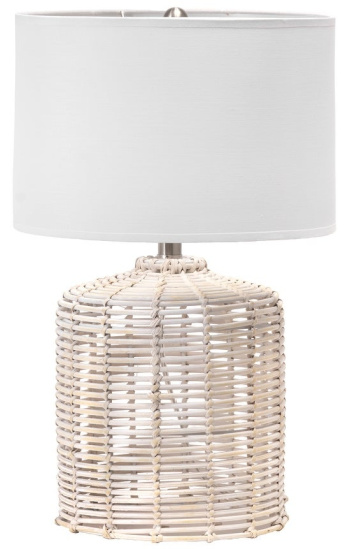 "nuLOOM Modena 19"" Rattan Table Lamp"