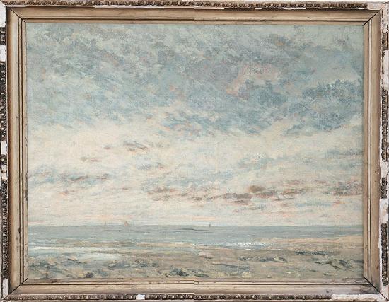 Pastel painting, seascape