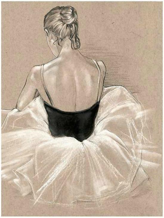 Ballet Study II Giclee Canvas Print 1