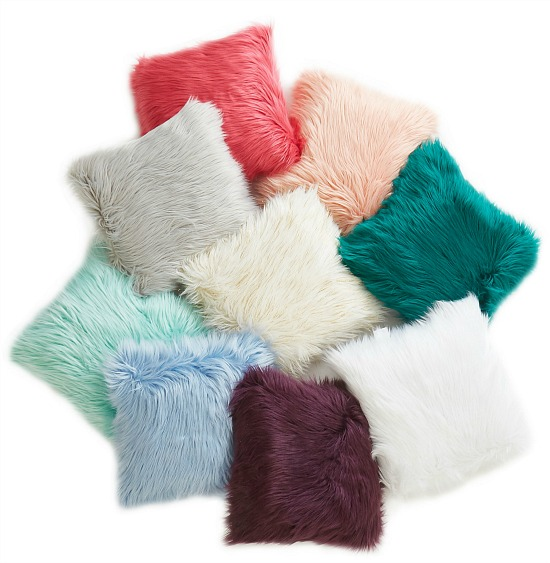 Mainstays Flokati Decorative Throw Pillow