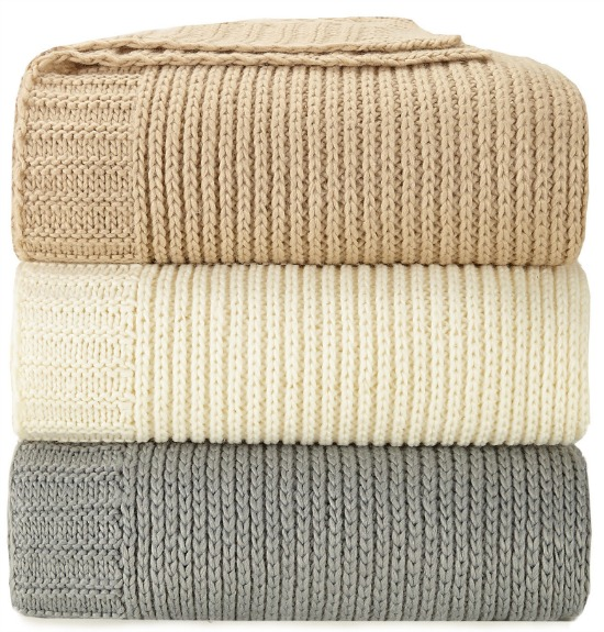 Peking Handicraft Sweater Knit Blanket