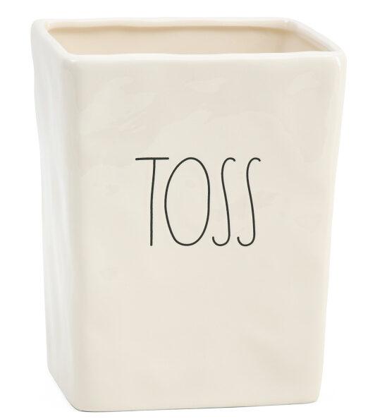 Rae Dunn Toss waste basket