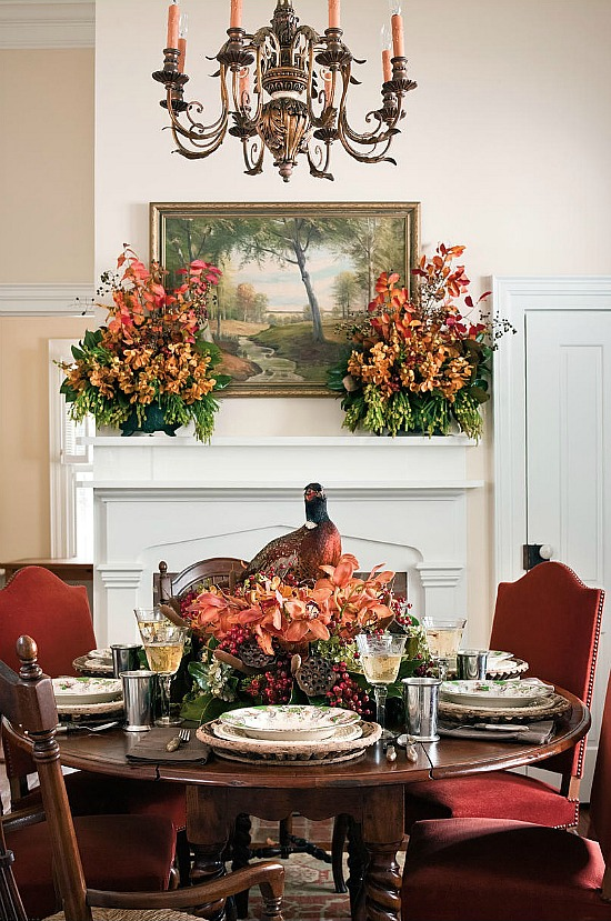 orange-cinnabar-fall-colors-dining-room
