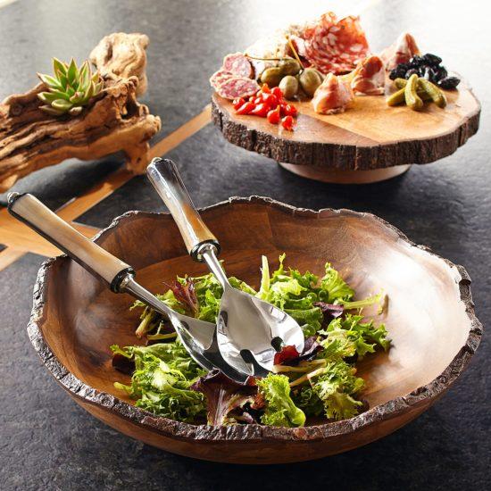 Live Edge Dakota Wooden Serving Bowl