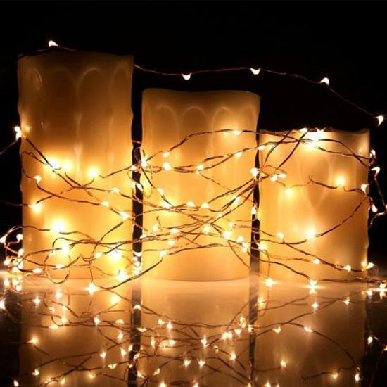 batter operated string lights
