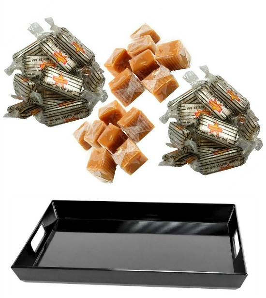 black melamine serving tray