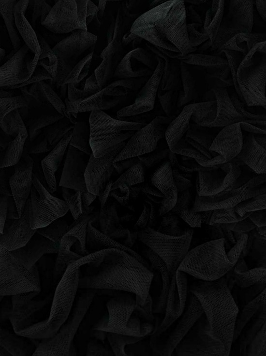 black tulle fabric