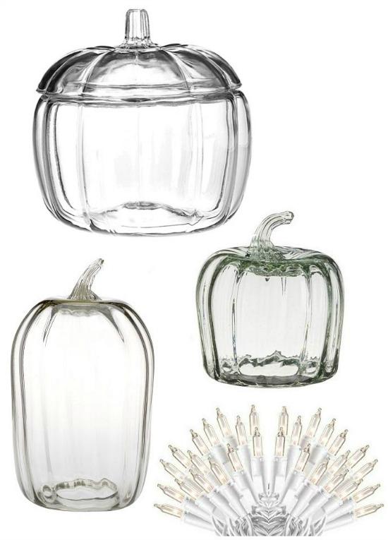 clear pumpkin cloche jar