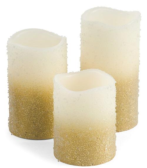 ombre pillar candles trio