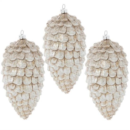 silver-pinecone-ornaments