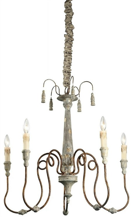 The Gray Barn Ingleside 5-light Chandeliers with cord cover