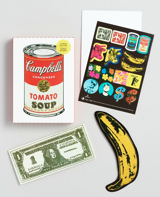 Andy Warhol Soup Can Die Cut Notecards Set Of 12