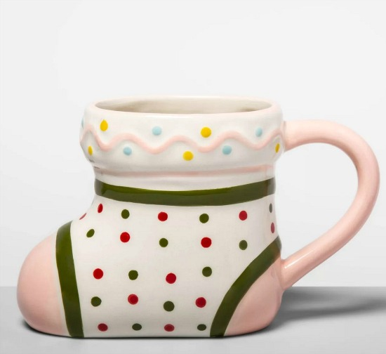 Earthenware Stocking Mug Pink - Opalhouse