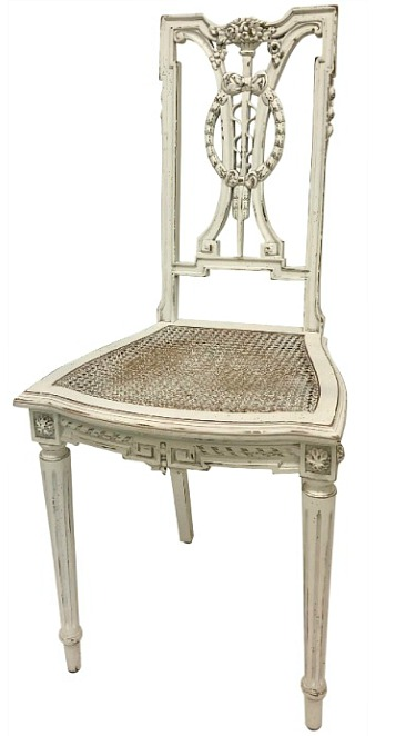 F. Louis XVI hand carved chair