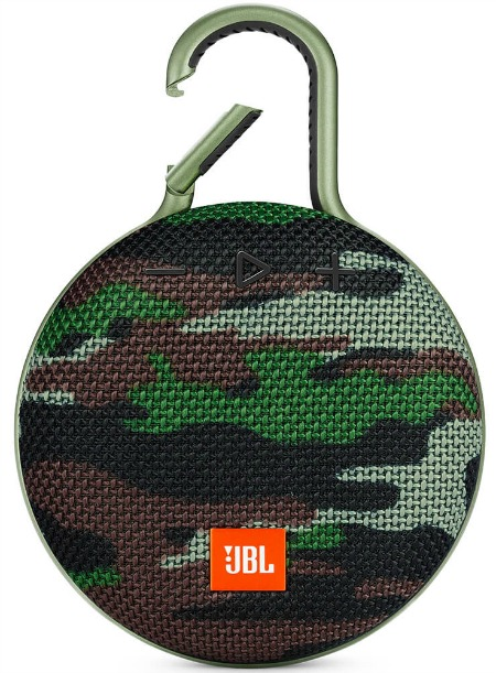 JBL Clip 3 Portable Bluetooth Speaker with Carabiner - Camo