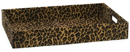 Haircalf Tray With Leopard Print