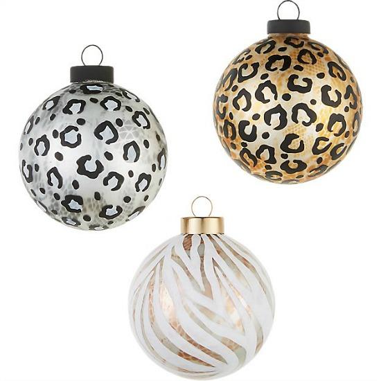 glass cheetah ornaments