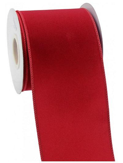 wide red velvet ribbon