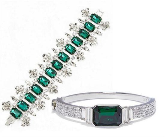 emerald style statement bracelets