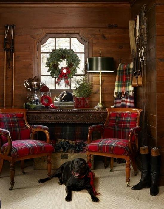 tartan plaid accent chairs
