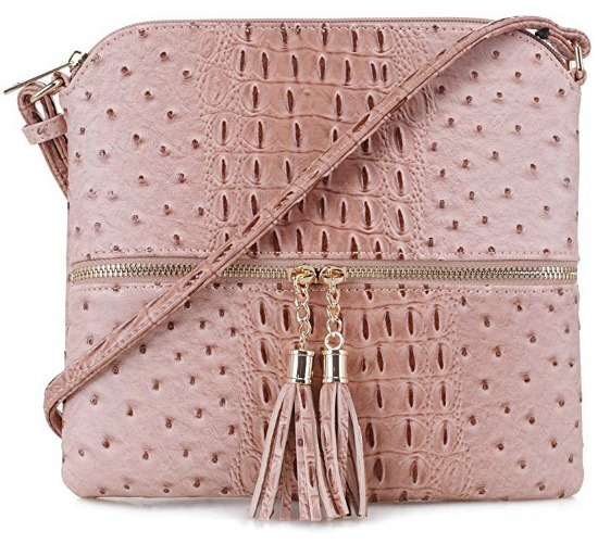 SG SUGU Animal Pattern Lightweight Medium Crossbody Bag with Tassel for Women
