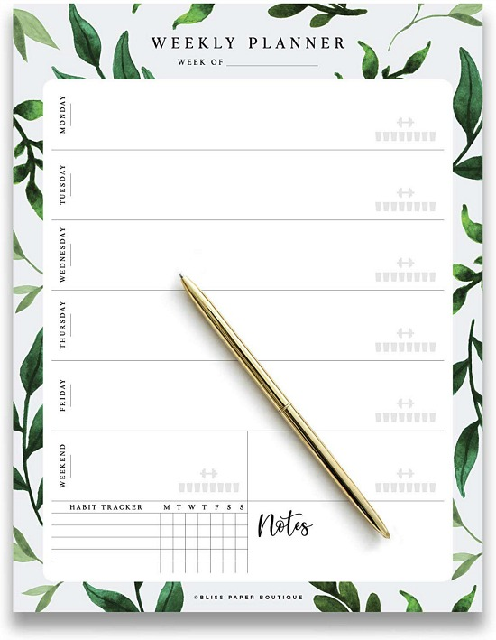 bliss weekly planner