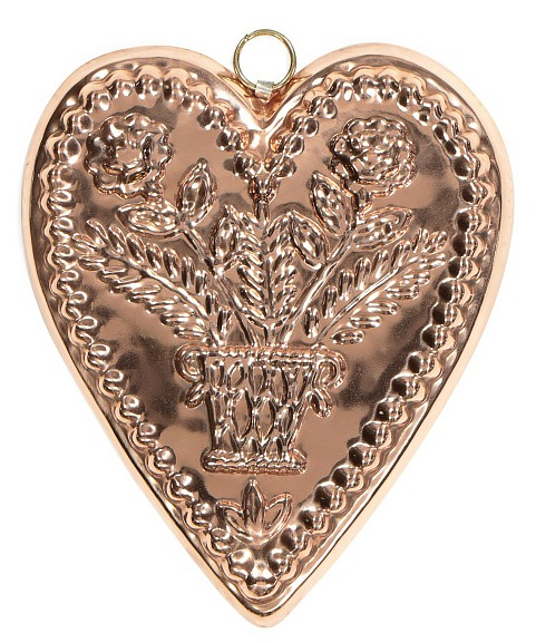 heart copper mold